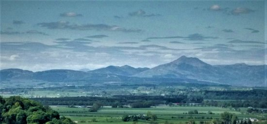 National Wallace Monument: View of distant highland mountains