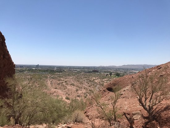 Papago Park: From the top of one of the more difficult trails.