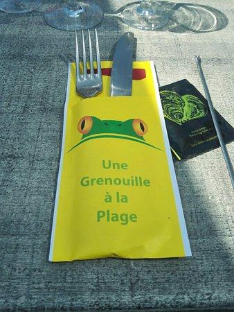Villerville, Francia: Une Grenouille a la Plage