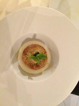 Il Consiglio Di Sicilia: Sardine flan with warm ricotta sauce.