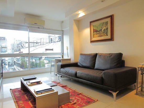 Tre Design Apartments: living y comedor
