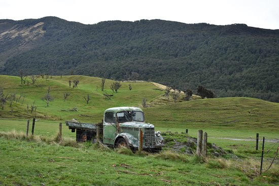 Alpine Adventures: old truck in the field in Paradise