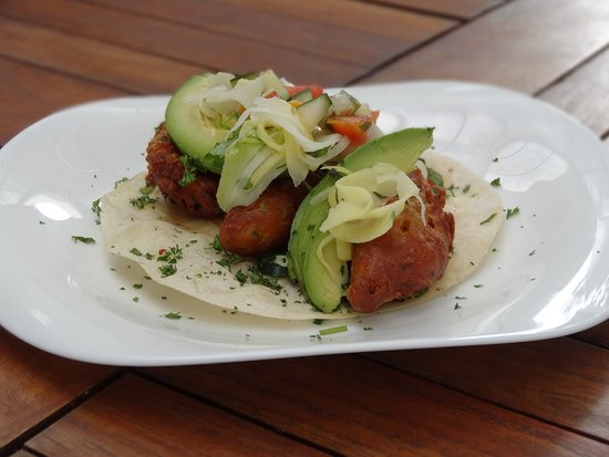 Tacobar Escazu: Taco de pescado tempura
