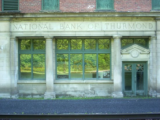 National Bank of Thurmond used to give 3% interest on savings - imagine that nowadays!!