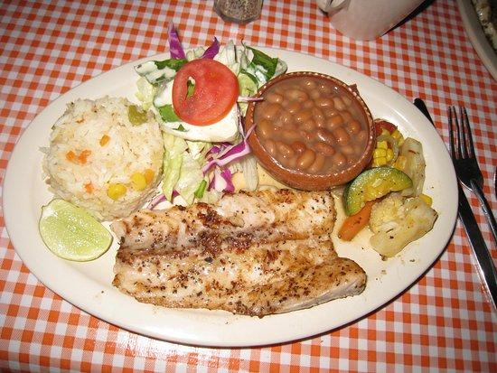 El Pollo Bollo: Grilled fish (bonita) with garlic -- This is the 'half order'
