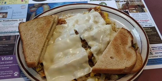 Wellsville, Pensylwania: All Mixed Up with cheese and toast