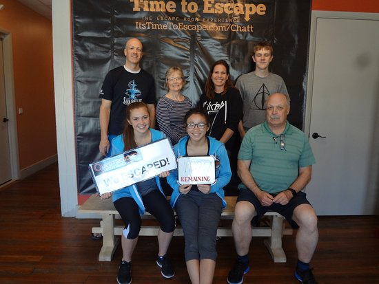 Time to Escape: the Escape Room Experience (Chattanooga) : We escaped! Great time at Time to Escape.