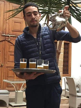 Welcome to Morocco--and to Riad Kalaa--with mint tea