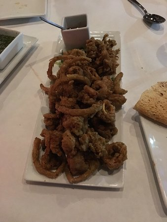 Morton Grove, IL: Calamari-crunchy, but oh so dry and tough