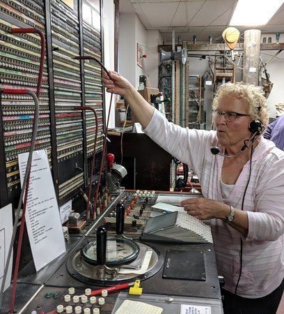 Tacoma, WA: Carol reenacted her job as an operator at age 18.