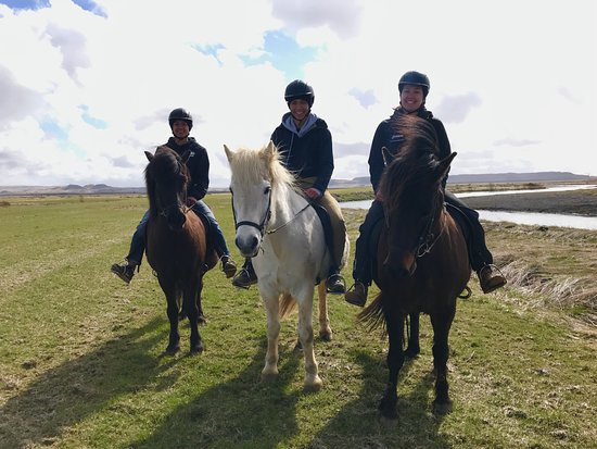 Riding Tours South Iceland: The three of us during our tour!