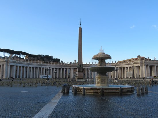St. Peter's Square (Piazza San Pietro): View across the square
