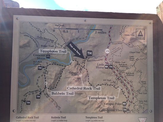 Cathedral Rock: map