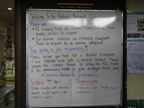 Rakiura National Visitor Centre DOC Office