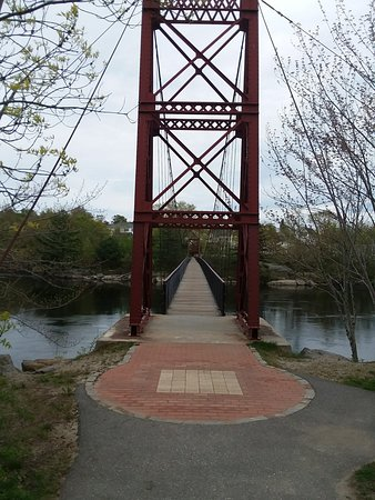 Topsham, ME: Androscoggin Swinging Bridge