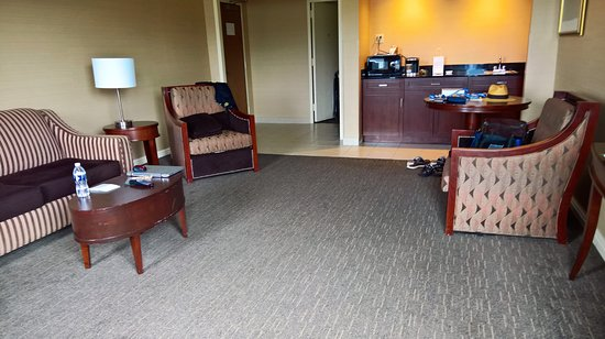 Wyndham Grand Pittsburgh Downtown: living room and kitchenette