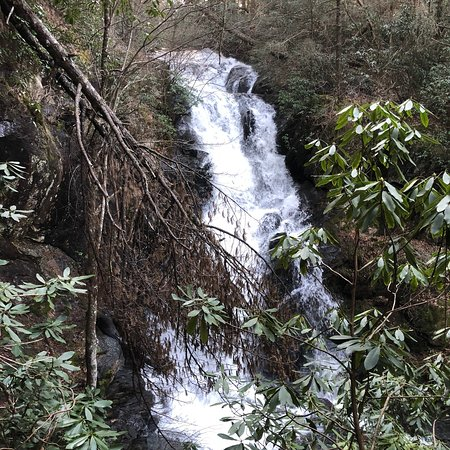 Blue Ridge, GA: View of Little Rock Creek Falls