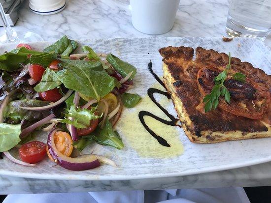 Edina, MN: Quiche and salad