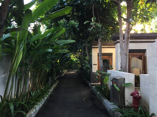 Conrad Bali: Walkway to the villa