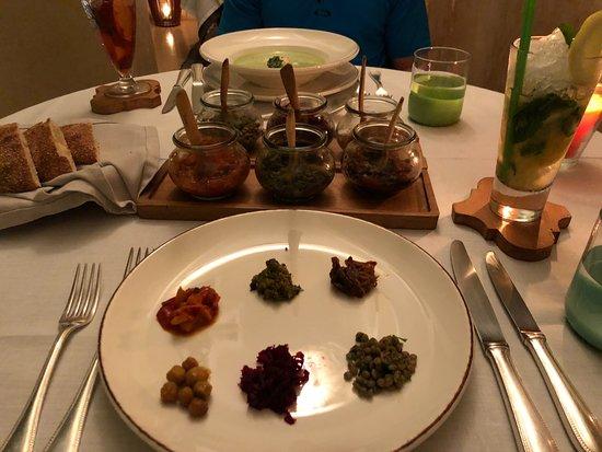 La Table Du Riad at Riad 72: Sample of 6 flavors