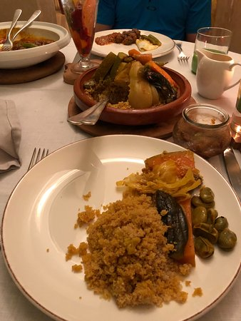 La Table Du Riad at Riad 72: Hand rolled couscous