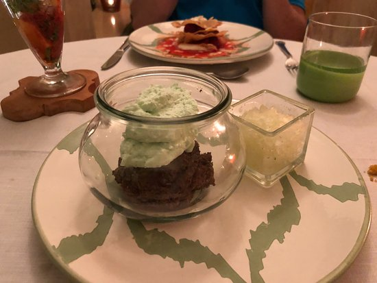 La Table Du Riad at Riad 72: Chocolate mouse with Mojito ice