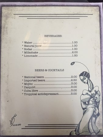 Cafe Arcangel Havana Menu