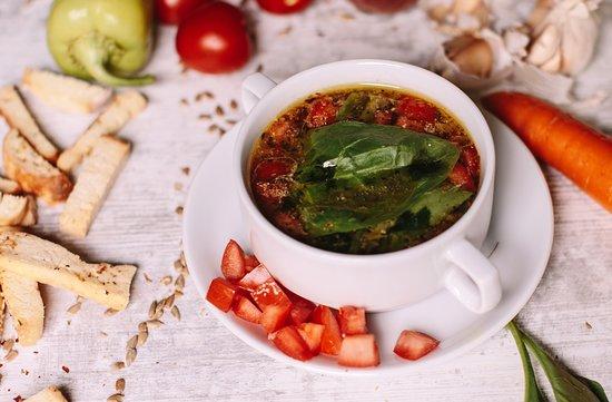 Piatto: spinach soup