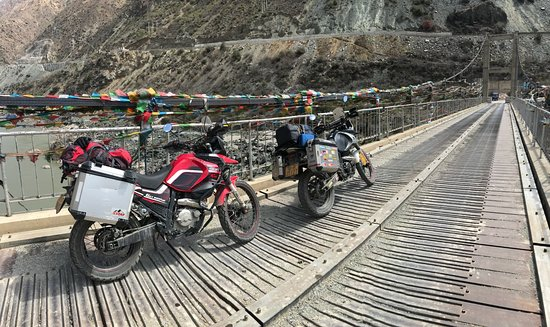 Ride China Motorcycle Tours and Rentals: One of the hanging bridge