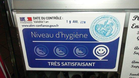 Sablet, France : alim'confiance