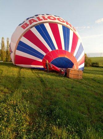 Hot air balloon rides in the Czech Republic: Перед взлетом