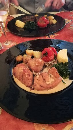 Restaurant Le Cygne: ris de veau grillé sauce morille
