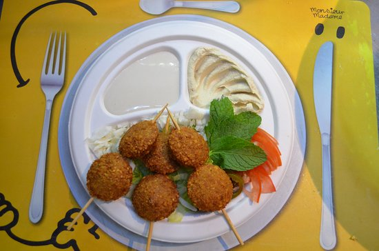 arabic falafel plate - The best snack and easy to share with