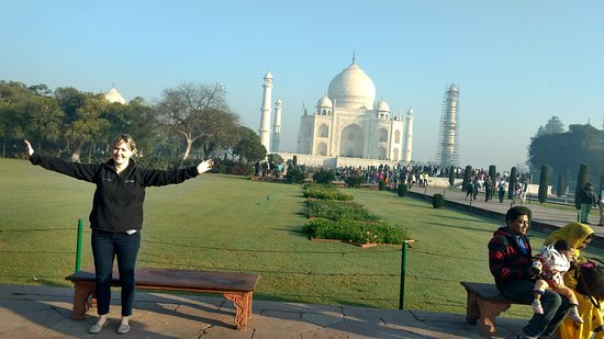 Agara, India: The Taj mahal at Agra