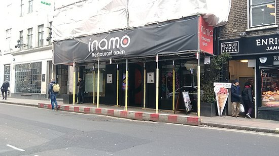 Inamo Soho: Inamo Games Room - Wardour Street (Even with Scaffolding up you can't miss it)