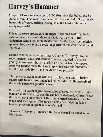 "Soo Locks: Caption for ""Harvey's Hammer"""