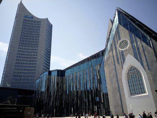 Original Leipzig Free Walking Tour: MDR Tower and University building
