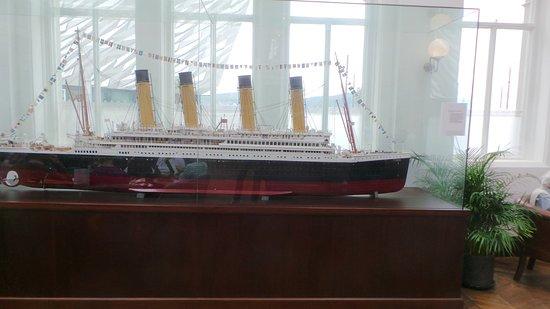 Titanic Hotel Belfast: Model of Titanic
