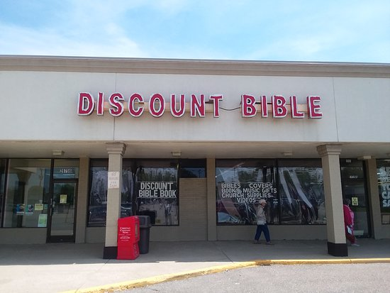 Warren, MI: Exterior of the Discount Bible Book and Music Store.