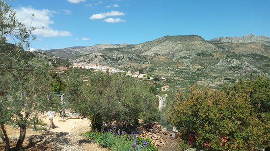 Confrides, Spain: view from lodge