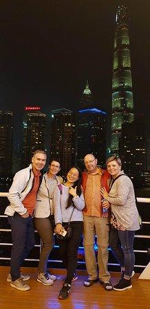 Mini Group Shanghai Day Tour to Zhujiajiao Water Town, Yu Garden, Bazaar, Bund: Friends together in Shanghai.