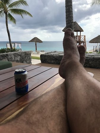 Presidente Inter-Continental Cozumel Resort & Spa: On our back patio!