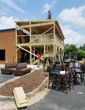 Savoy Bar and Grill: Renovating our new patio