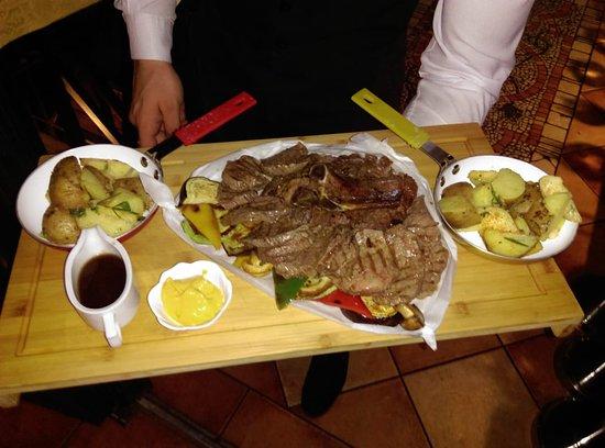 Trattoria Il' Giardino: Rib-eya I biftek taljata