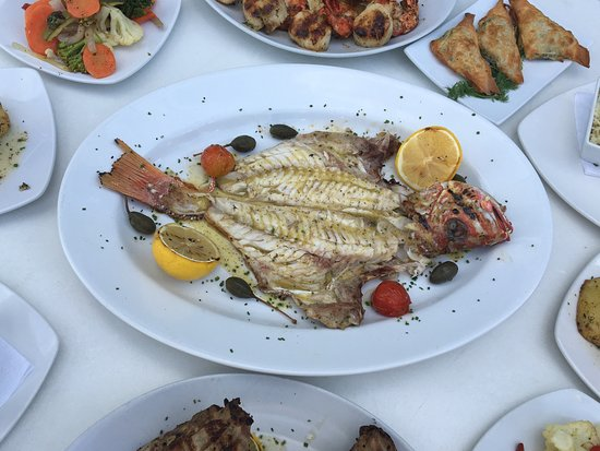 Estiatorio Skara: grilled sea bass