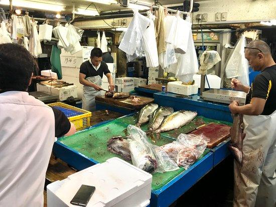 Tsukiji Fish Market: working market