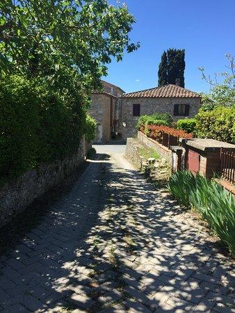 Villa Cristina: Strada per il Parcheggio _vistra strada