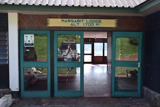 Marsabit National Reserve, Kenia: Reception entry