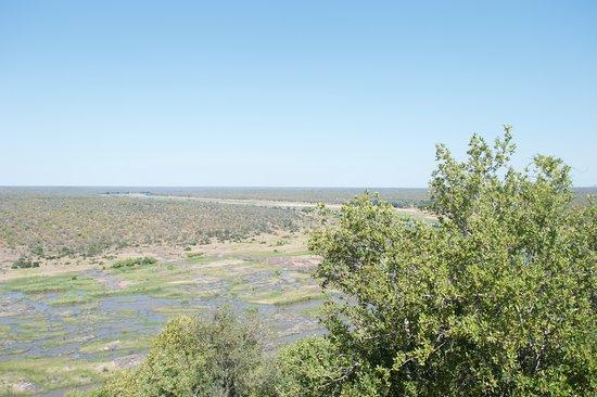 Olifants Rest Camp: vista dalla terrazza.