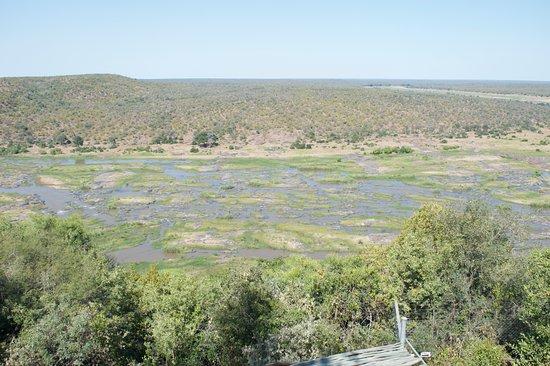 Olifants Rest Camp: fiume Olifant dalla terrazza.